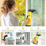 INTEY Nettoyeur de Vitre Electrique Aspirateur-3 nettoyage des vitres