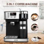 Aicook cafetière expresso italienne 3 en 1 : types de cafés