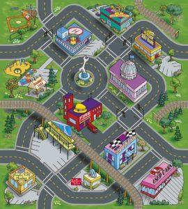 Leomark - Tapis de Jeu Pour Enfants Circuit de Voitures Dans la Ville